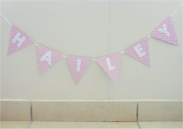 DIY Paper Birthday Banner #DIY #lblogger #lifestyleblogger #lifestyleblog #crafts #DIYblogger #banner #birthday #decor