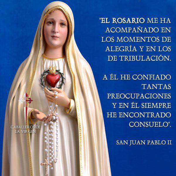 Santo Rosario Sabias que >>> El Santo Rosario le fue