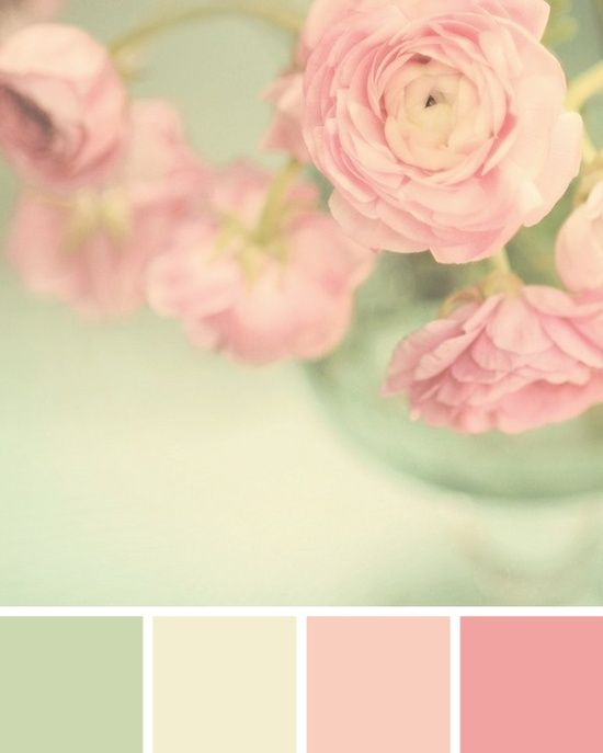 Mint Pink Color palette / © Spitfiregirl Design - pretty girls room colours/girly bathroom