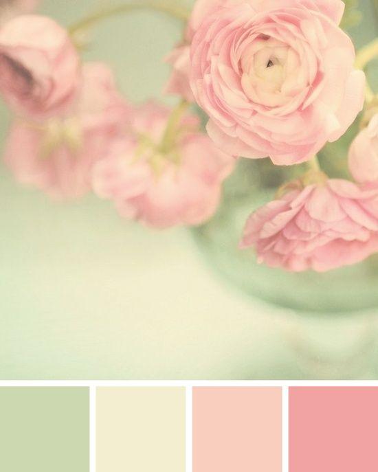 Mint Pink Color palette / © Spitfiregirl Design - pretty girls room colours/girly bathroom