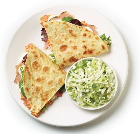 Rosemary Ham & Mozzarella Piadina from Zoes Kitchen