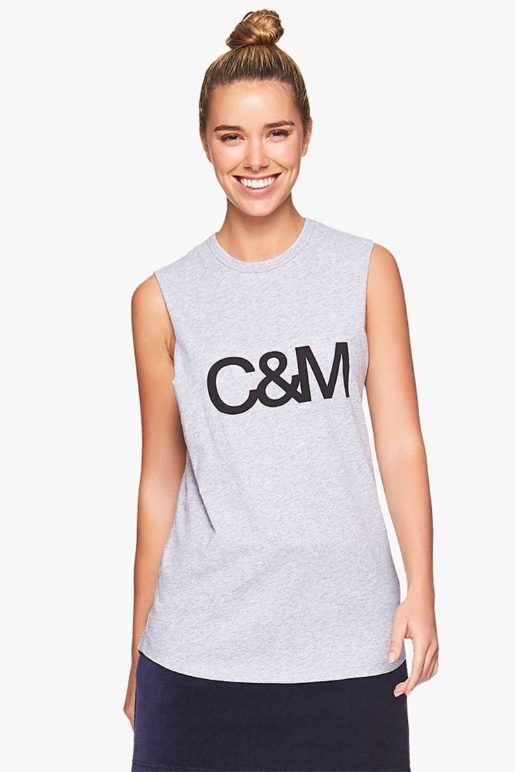 C&M Camilla and Marc Classic Muscle Tank in Grey Marle