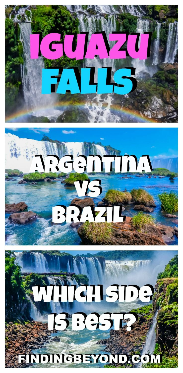 If you're having the Iguazu Falls Argentina vs Brazil debate, read this article for information and photos to help you decide which side is best for you. Tips for visiting Iguazu Falls | How to visit Iguazu Falls | What side is best to visit Iguazu Falls | Visiting Iguazu Falls| Backpacking South America | Best of Iguazu Falls | Top attractions in South America | Best of South America | Iguazu Falls Highlights