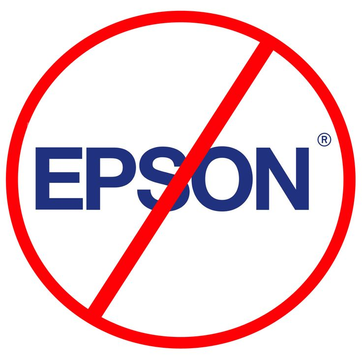 AVOID #Epson printers. They will suck your wallet dry with ink replacements!
