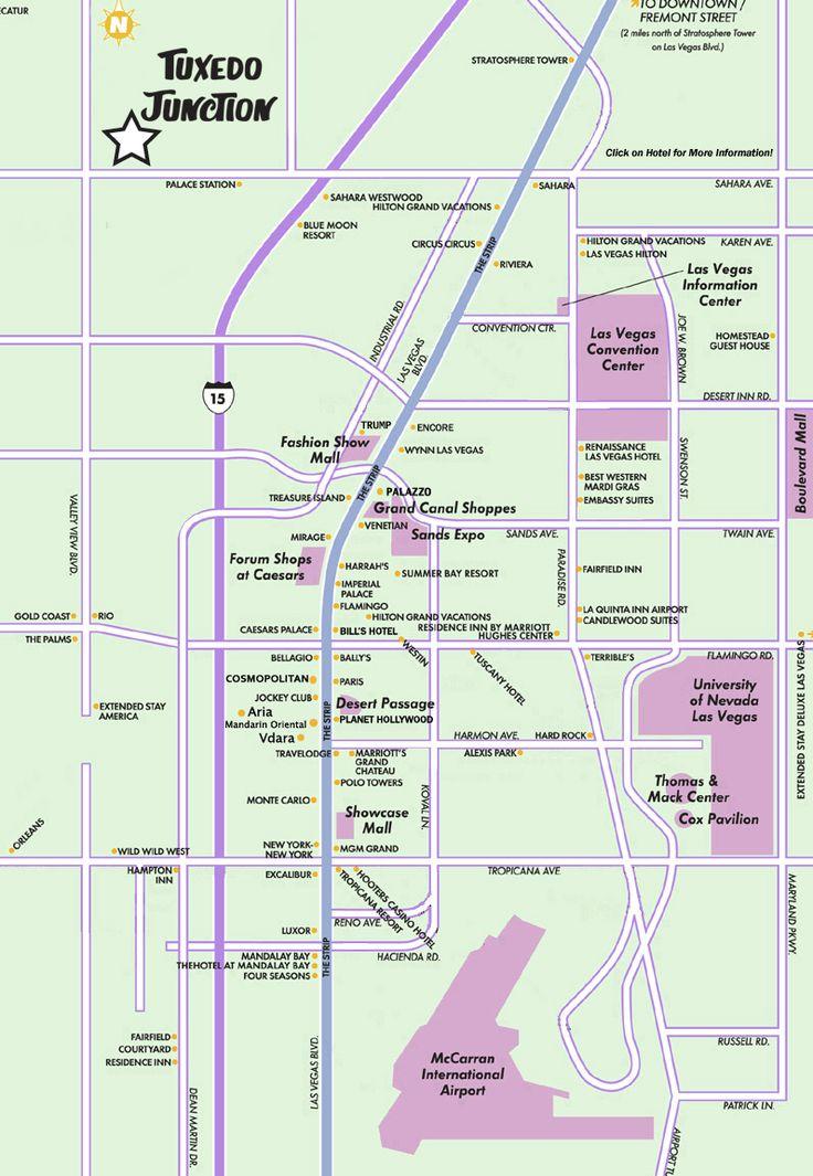 Map Of Las Vegas Blvd Aka The \las Strip\ Includes: Cosmopolitan Las Vegas Map At Slyspyder.com