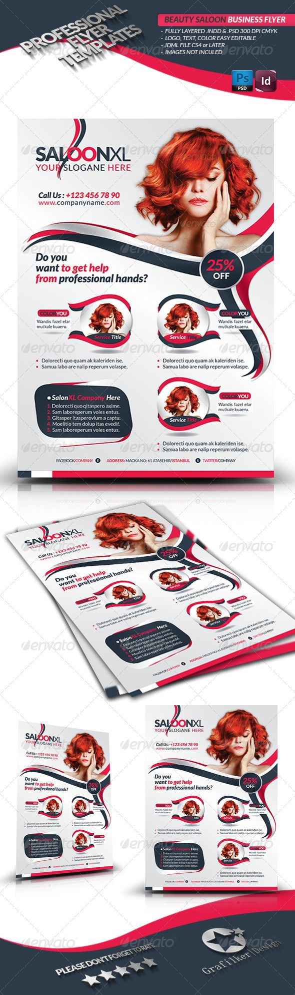 9 Best Beauty Salon Poster Design Images On Pinterest Flyer Design Graphics And Flyer Template