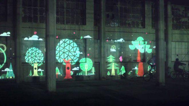 projectie op muur