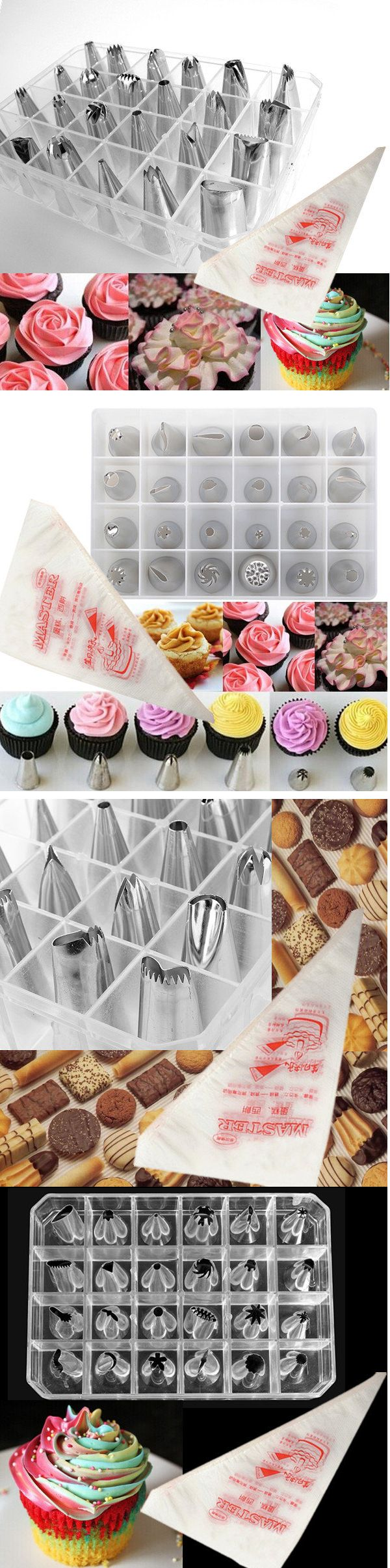 US$7.99 24pcs Cake Decoration Set Of Icing Piping Nozzle Tips Set