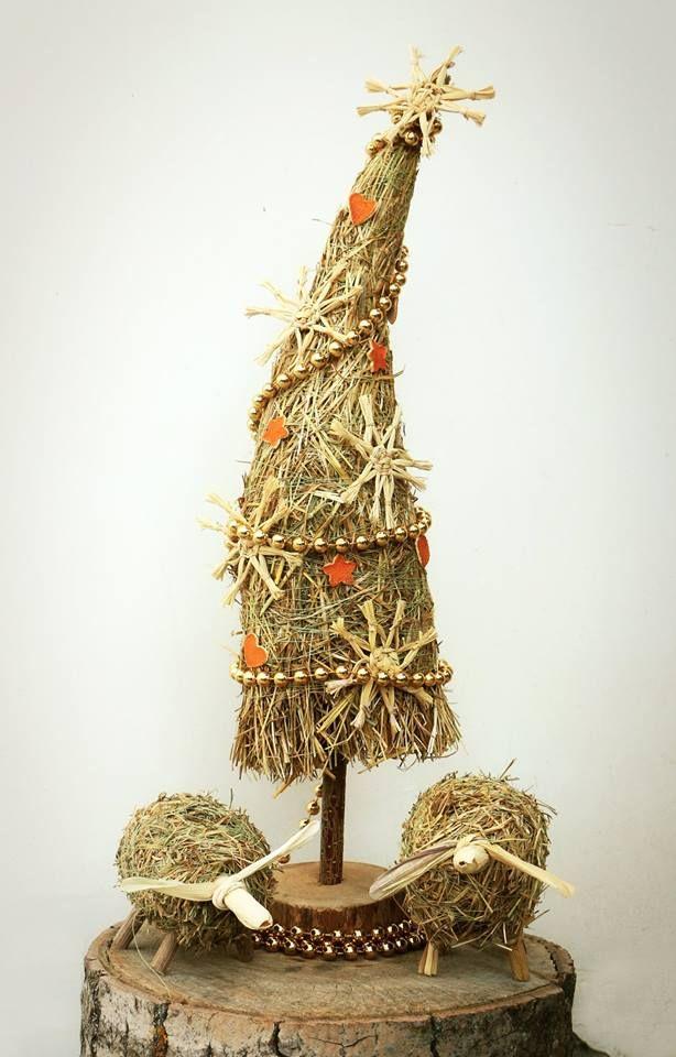 Елочка из сена