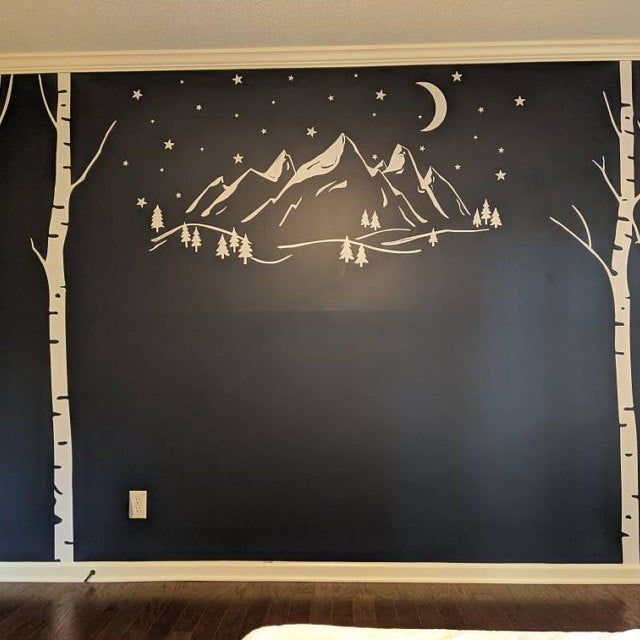 Wall Decals Living Room Tree Wall Decals Sticker Set Large Etsy Tree Wall Decal Wall Decals Living Room Star Wall Decals #tree #wall #decal #for #living #room