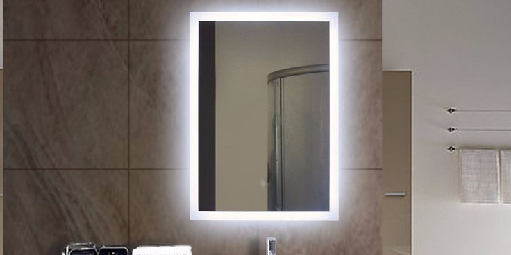 Best 25 backlit bathroom mirror ideas on pinterest for Types of bathroom mirrors
