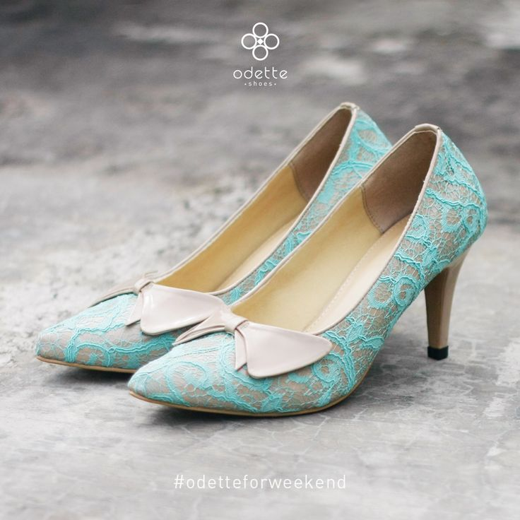 """Emily Blue Lace 7cm heels is stunning yet friendly for your feet ! you can find it in www.odetteshoes.com there's a weekend 20% discount for Friday, Saturday and Sunday purchasement. just click on """"SALE !"""" tab on our website :) #OdetteForWeekend #OdetteShoes"""