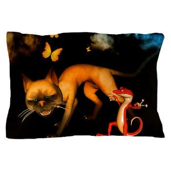 #Funny #cat and #gecko #Pillow #Case > Funny cat and gecko > dreamworld