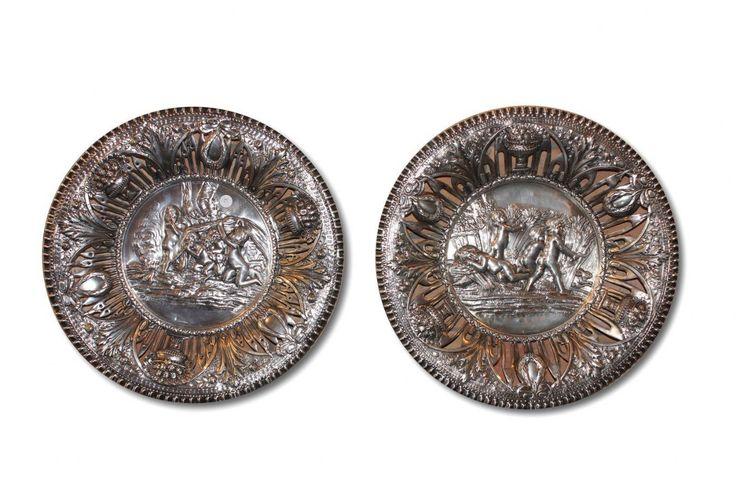 coppia di piatti antichi Antiquariato su Anticoantico