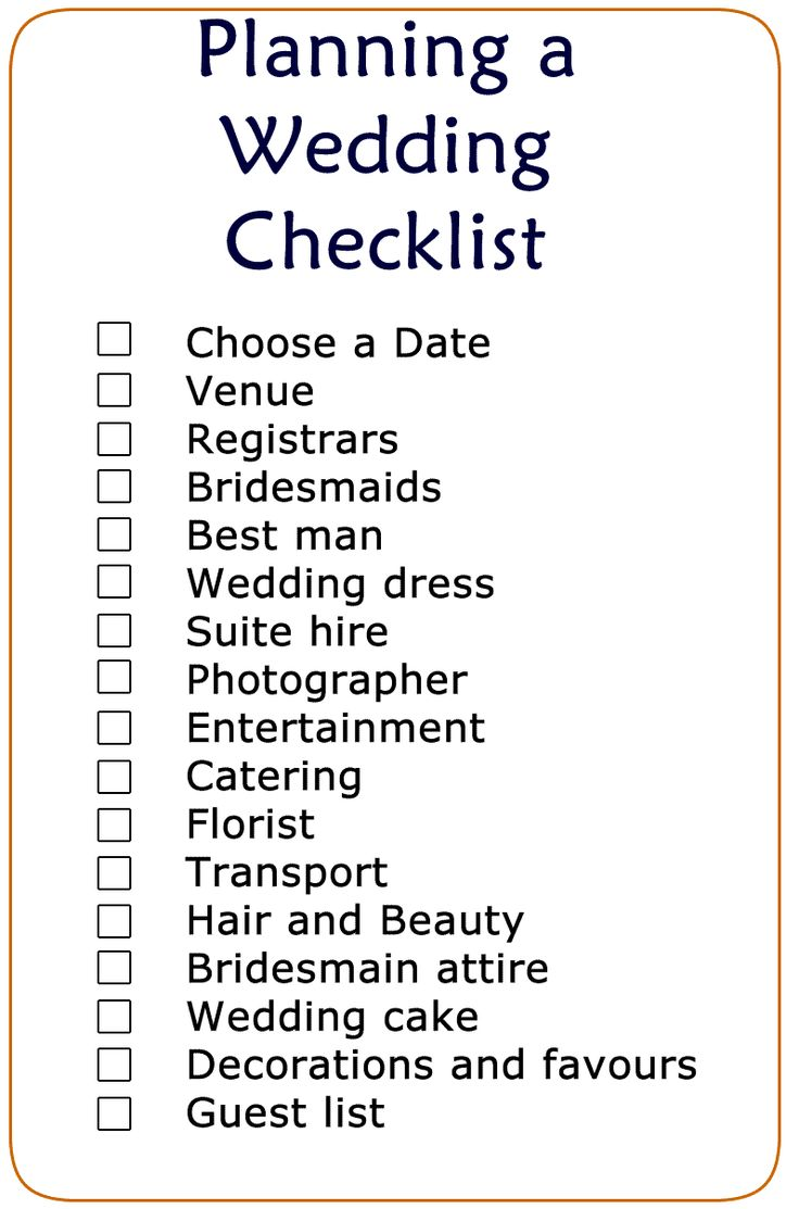 The 25+ best Wedding checklist printable ideas on Pinterest ...