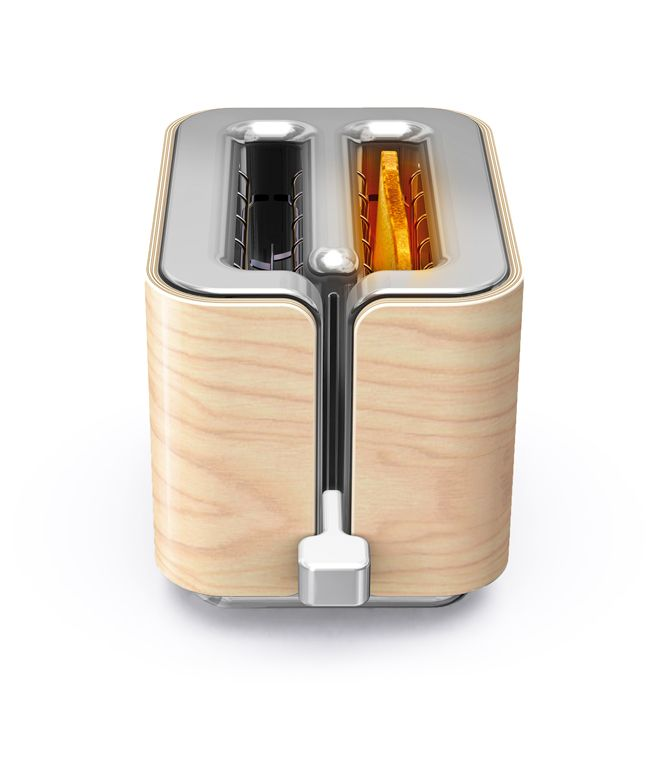 GRO domestic Product Electronic Clean Nature Wood Toaster