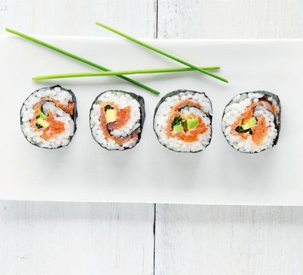Smoked Salmon & Avocado Sushi Recipe by Silvana Franco. I've never made sushi before, this looks like an easy & delicious recipe