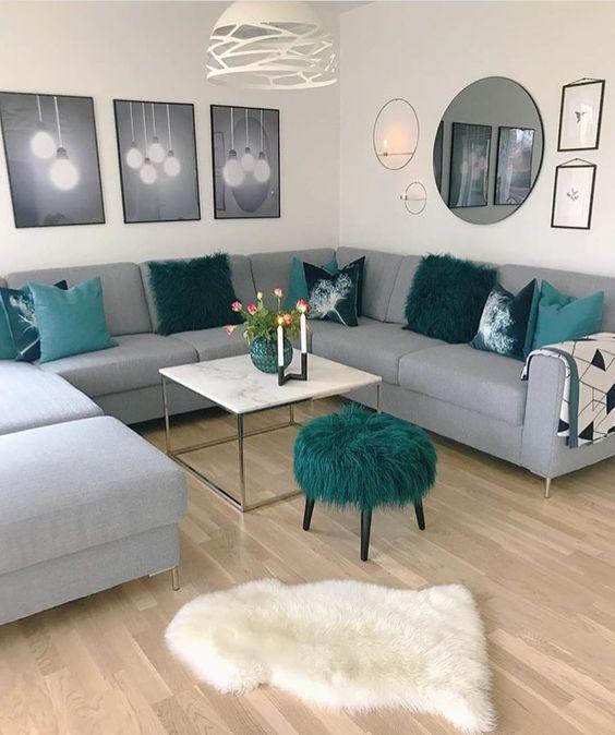 Salas Grises Sencillas Decoracion De Salas En Gris Salas Color Gris Sala C Decoracion De Interiores Salas Muebles Para Salas Pequenas Cojines Para Sala Gris