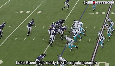 Luke Kuechly in midseason form against Ravens, here's the GIF to prove it - Gamedayr : Gamedayr