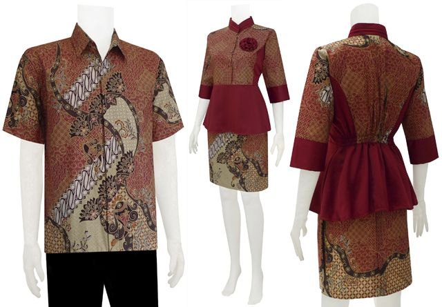 Baju Batik Dress Sarimbit Modern