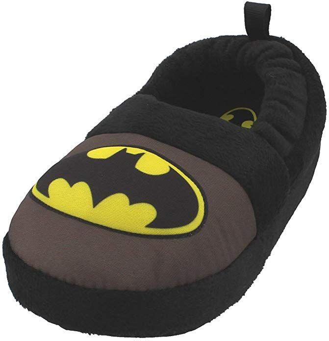 NEW DC Comics Batman Toddler Boys Black Gray Slippers Size 5//6 7//8