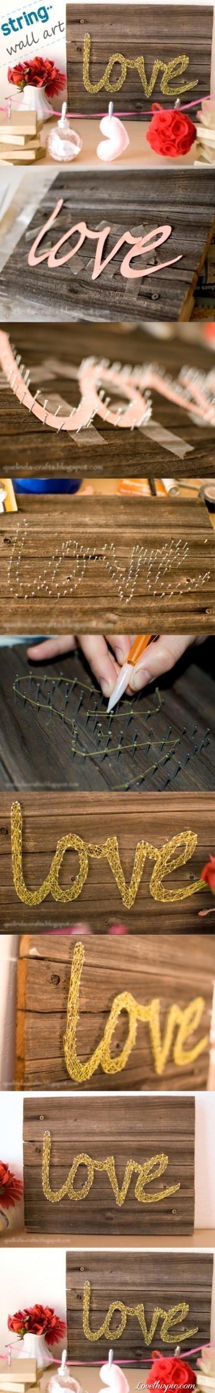 DIY wall art-string art