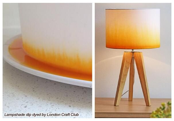 EAST FINCHLEY!! TBC September 2014 Make a Dip Dye Lampshade session - a craft best done over chat and glass of wine! Come and learn how to make a plain white lampshade and dip dye it there and then to create an ombre graduated colour effect.