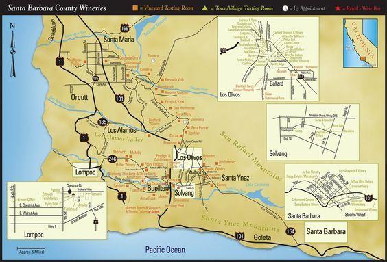 Santa Barbara County Wineries Map