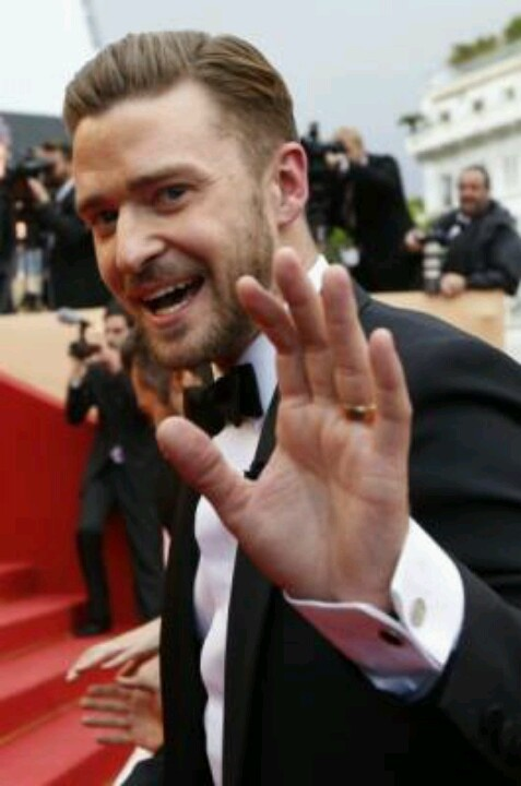 Justin timberlake at Cannes Film festival 2014.  I'm too old for celebrity crushes, but I just can't help it. Love this guy.