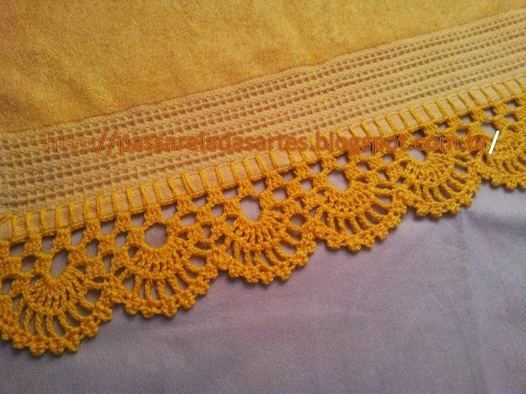 Artes na Passarela: Toalha com barrado amarelo