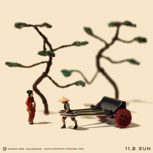 11.2 sun 約300年前のバインダークリップの使い方 #バインダークリップ #人力車