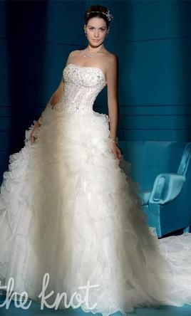 Demetrios Young Sophisticates 2832 wedding dress currently for sale at 80% off retail.