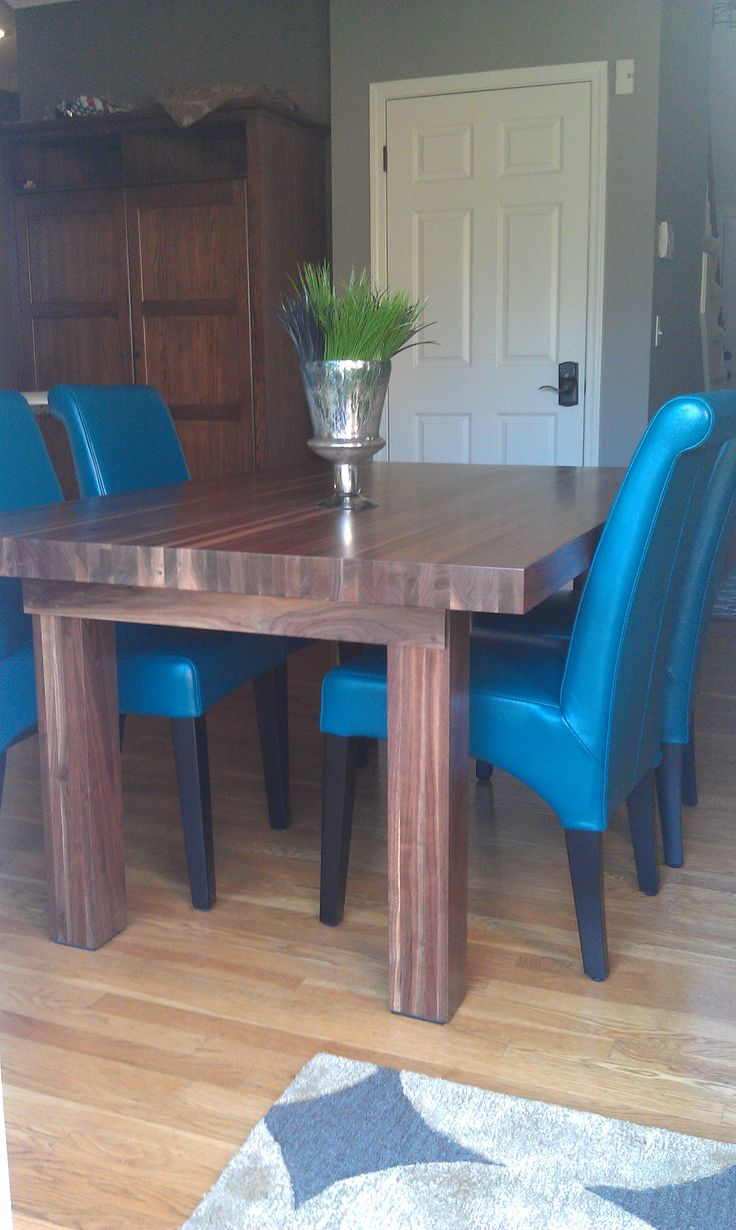 11 best needed for the apartment images on pinterest for Teal dining room table