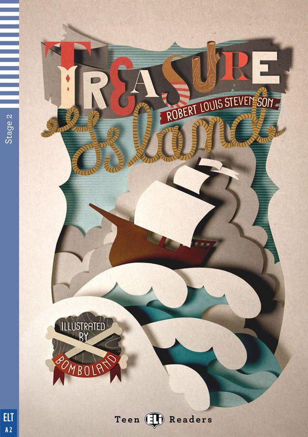 ペーパークラフト感がかわいい表紙のイラスト。タイポグラフィーもいい感じ。(via Treasure Island)