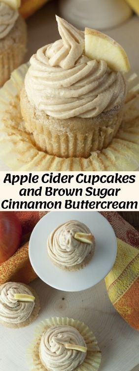 Moist and flavorful recipe for Apple Cider Cupcake…