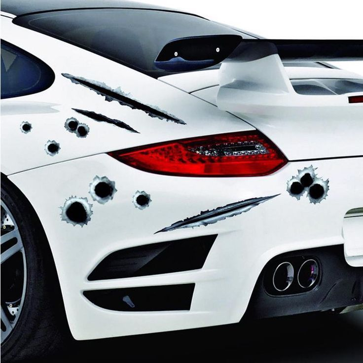 3D Cool  Bullet  Hole  Car  Stickers  Cars Accessories  For The Whole  Car Model #Atreus #HollywoodRegency