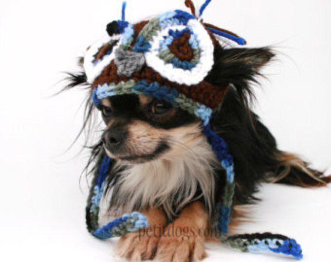 Hond Hat gehaakte uil Beanie muts voor honden