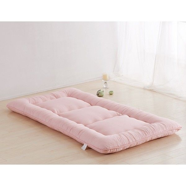 Light Pink Futon Tatami Mat Japanese Futon Mattress Cheap Futons For... ($170) ❤ liked on Polyvore featuring home, bed & bath, bedding and mattresses