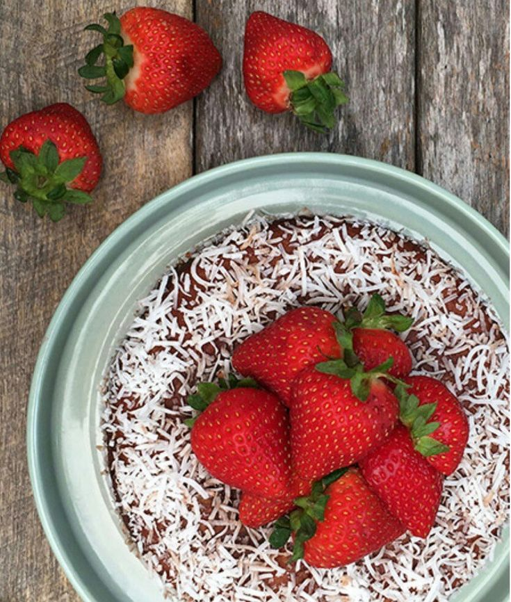 Healthy Strawberry Lamington Cake - Click on image to view the recipe!