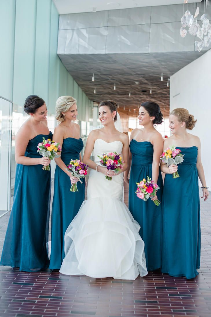 639 best bejewelled bridesmaids images on pinterest wedding strapless blue bridesmaid dresses ombrellifo Gallery