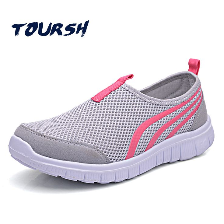 TOURSH Breathab Shoes Woman Casuals Shoes Women Big Size Shoes Krasovki Women Krasovki Tenisky Zapatos Casuales Mujer Flat Shoes #Affiliate