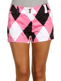 argyle pink & black shorts just need a black golf top.