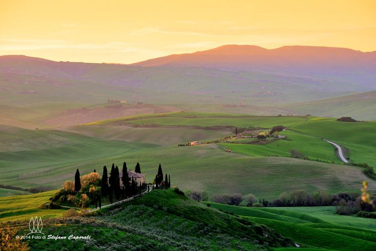 Tuscan sunrise in Val d'Orcia -