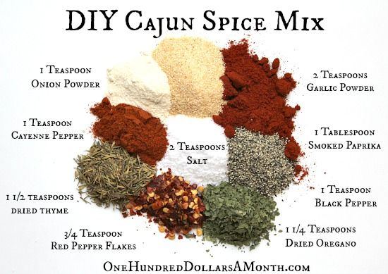 DIY Cajun Spice Mix Recipe.  Pinned and tried!  The combination of the herbs and spices works really well, so far I've used it on chicken for my enchiladas and it made the chicken very tasty.  I tripled the quantities so I've got a little batch to hand should I need it.