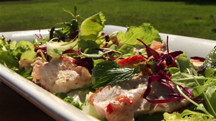 Gary Mehigan's mothers day recipe ... Chicken breast salad with goats curd and lemon