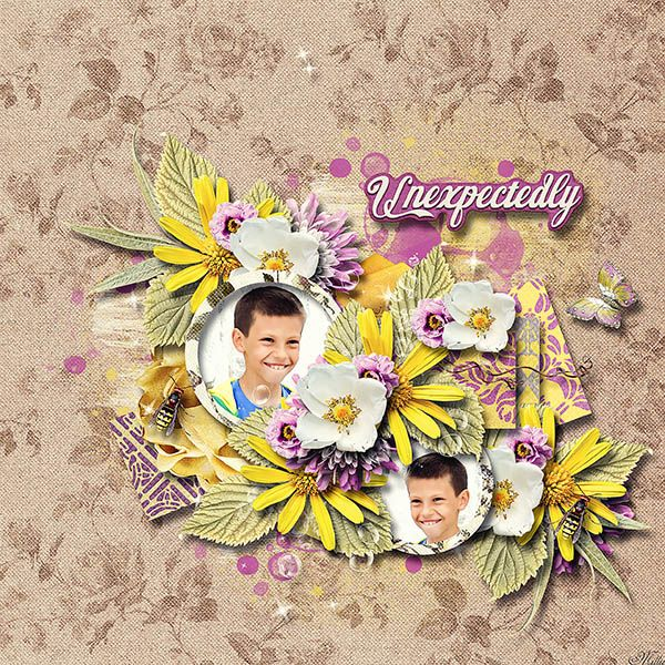 Unexpectedly by Valentina's Creations template Lovely Day freebie7 by Eudora Designs