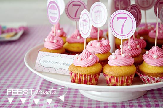 prinsessenfeest cupcakes