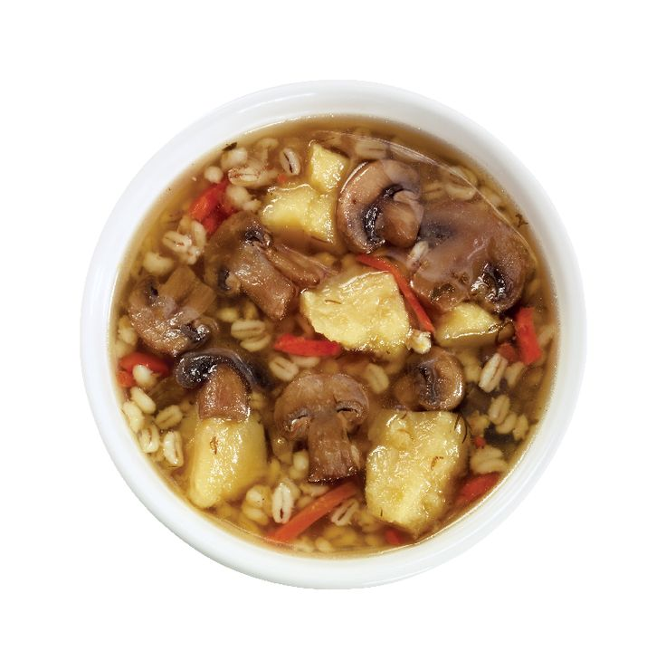 Wild Mushroom Barley Soup from #YummyMarket
