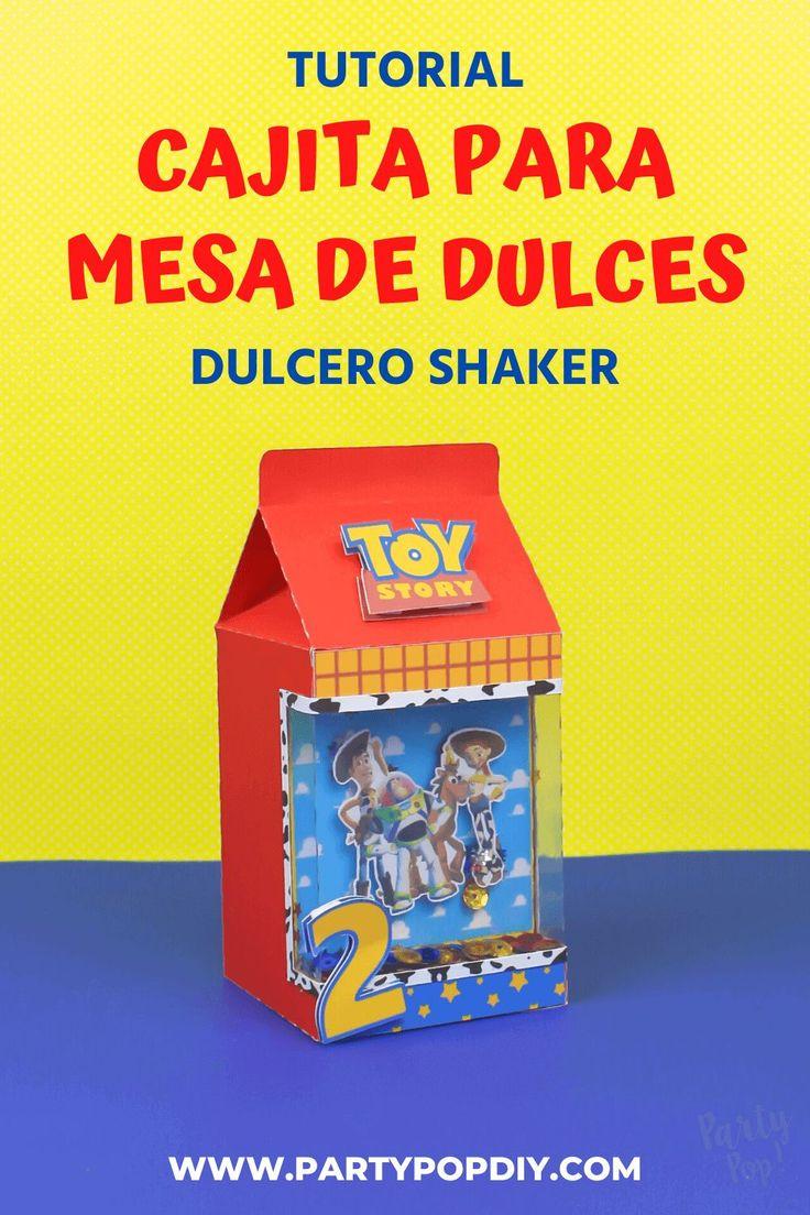 Cajitas para mesa de dulces . cajita shaker #cajita #cajita #dulcero #bolo #recuerdo #mesadedulces #cajitashaker #shaker Toy Story, Baby Shower, Diy, Craft, Cakes, Dress, Creative Crafts, Birthday Cards, Sachets