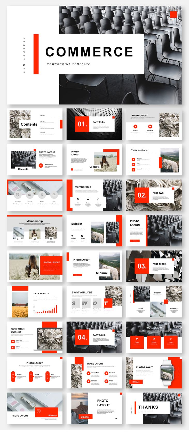 3 in 1 Minimal & Creative Professional PowerPoint Template
